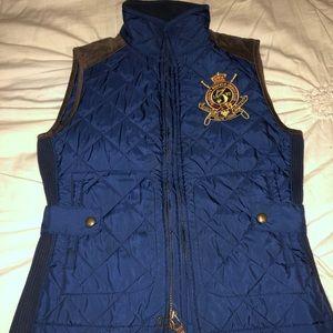 Polo Ralph Lauren navy quilted full zip vest